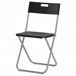 Складные черные стулья