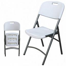 Складные серые стулья